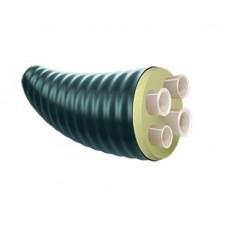Теплоизолированные трубы ТВЭЛ-ПЭКС (ИЗОПЭКС) -4, 2x40x3,7+40x5,5+32x4,4/160